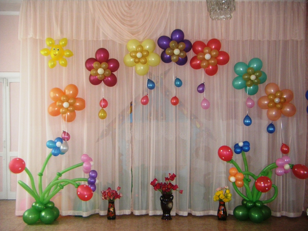 Выполняем комплексное оформление шарами выпускных в детских садах и школах Донецка и обл.Постоянно действующая акция...